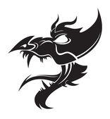 dragon vector — Vettoriale Stock