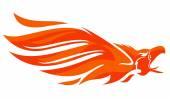 Flaming Phoenix vector — Stock Vector
