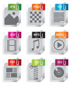 File types vector — Stock Vector
