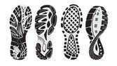 Footprint  vector — Stock Vector