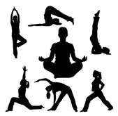 Yoga-silhouette — Stockvektor