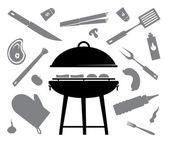 barbecue vector — Stock Vector