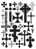 Crosses — Stock Vector