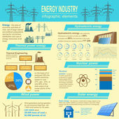 Fuel and energy industry infographic, set elements for creating — Stock Vector
