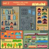 Modern city map elements for generating your own infographics, m — Stock Vector