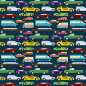 Passenger car background, seamless — Stock Vector