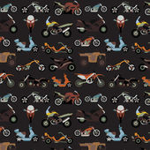 Motorcycles background, seamless — Stock Vector