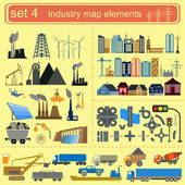 Industry map elements — Stock Vector