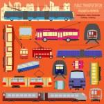 Public transportation infographics. Tram, trolleybus, subway — Stock Vector #53188323