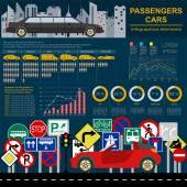 Samochody, transport infografika — Wektor stockowy