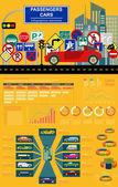 Passenger car, transportation infographics — Stockvector