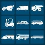 ������, ������: Set of nine icons of trucks