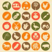 Set agriculture, farming icons.  — Stock Vector