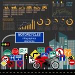 ������, ������: Set of motorcycles elements transportation infographics