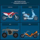 设置用于创建您自己的信息图表 o 元素电单车 — 图库矢量图片