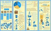Fuel industry infographic, set elements for creating your own in — Stockvector