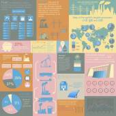 Fuel and energy industry infographic, set elements for creating — Stockvector