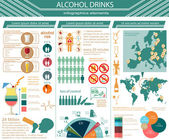 Alcohol drinks infographic — Stock Vector