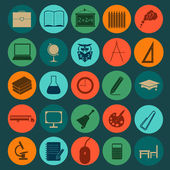 Set education icons — Stock Vector