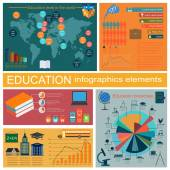 Education school infographics. Set elements for creating your ow — Stockvektor