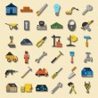 Set of house repair tools icons. — Stock Vector #55761819