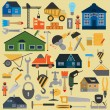 Set of house repair tools icons — Stock Vector #55762121
