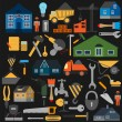 Set of house repair tools icons — Stock Vector #55762195