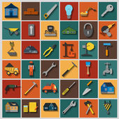 Set of house repair tools icons. — Vettoriale Stock