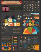 House repair infographic, set elements — Stockvector