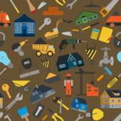 House repair and construction background — Vector de stock