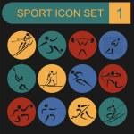 Sport icon set. Flat style — Stock Vector #56136677