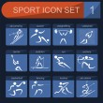 Sport icon set. Flat style — Stock Vector #56136707