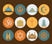 Religion icon set — Stock Vector