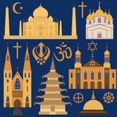 Religion icon set — Vector de stock