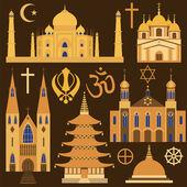 Religion icon set — Stock Vector