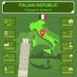 Italian Republic infographics, statistical data, sights — Stock Vector #56543661