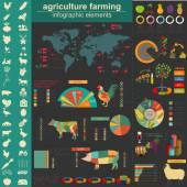 Agriculture infographics — Stok Vektör