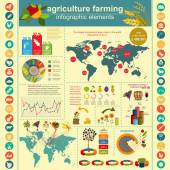 Agriculture, farming infographics — Stok Vektör