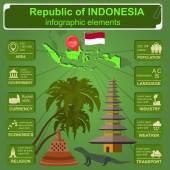 Indonesia  infographics, statistical data, sights. — Stockvector