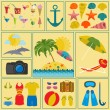 Travel. Vacations. Beach resort set icons. Elements for creating — Stock Vector #58092561
