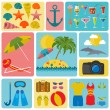 Travel. Vacations. Beach resort set icons. Elements for creating — Stock Vector #58092685