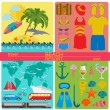 Travel. Vacations. Beach resort set icons. Elements for creating — Stock Vector #58094101