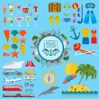 Travel. Vacations. Beach resort set icons. Elements for creating — Stock Vector #58094559