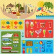 Travel. Vacations. Beach resort set icons. Elements for creating — Stock Vector #58098297