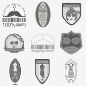 Set of vintage fashion and clothes style logos. Vector logo temp — Stock vektor