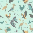 Birds seamless pattern. Vector flat style — Stock Vector #59819397