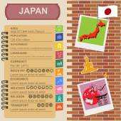 Japan  infographics, statistical data, sights — Stock Vector