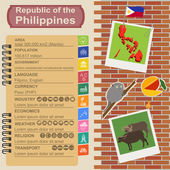 Philippines  infographics, statistical data, sights — Stock Vector