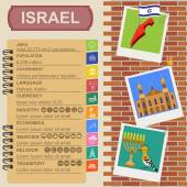 Israel  infographics, statistical data, sights — Vettoriale Stock
