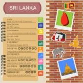 Sri Lanka  infographics, statistical data, sights — Stock Vector